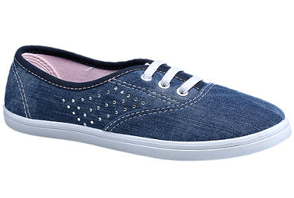 Graceland Gem Studded Denim Canvas