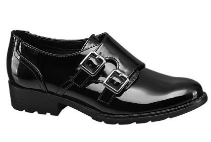 Graceland Twin Buckle Patent Monk Shoe