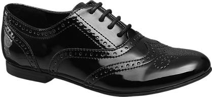 Graceland Patent Brogue Lace Up Shoe