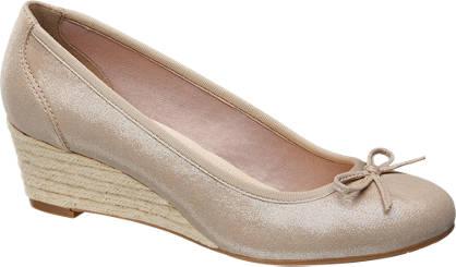 Graceland Gouden pump espadrilles sleehak