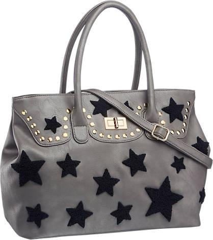 Graceland Grijze handtas sterren