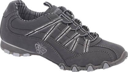 Graceland Grijze sneaker elastische veters