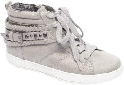 Graceland Grijze sneaker glitter stof