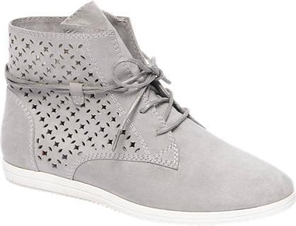 Graceland Grijze sneaker perforatie