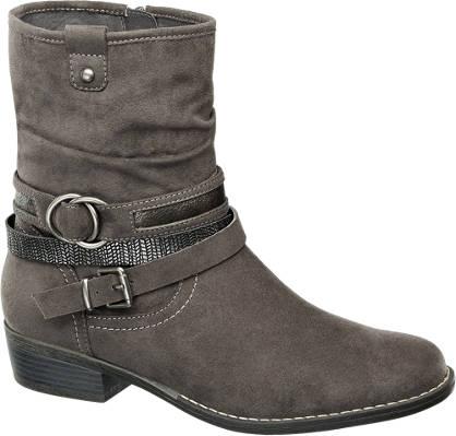 Graceland Buckle Trim Ankle Boots