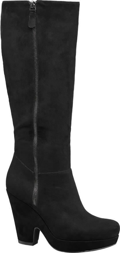 Graceland Scoop Wedge High Leg Boots