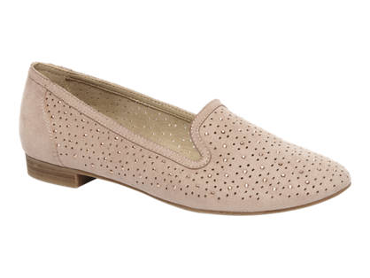 Graceland Licht roze loafer perforatie