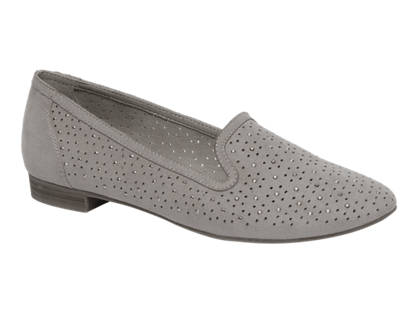 Graceland Lichtgrijze loafer perforatie