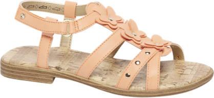 Graceland Oranje sandaaltje vlinder