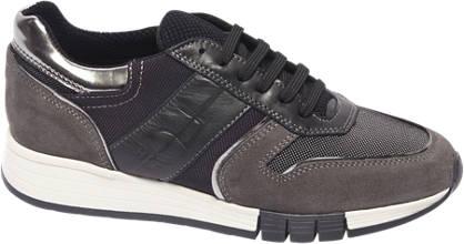 Graceland Premium - Donkergrijs leren sneaker