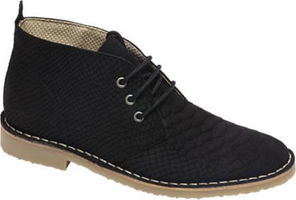 Graceland Premium - Zwarte desert boot leer
