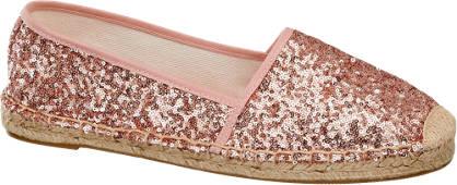 Graceland Roze espadrilles pailletten