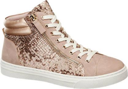 Graceland Roze sneaker croco print