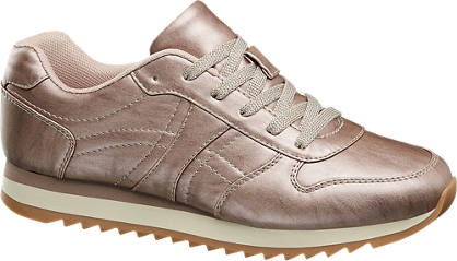 Graceland Roze sneaker metallic look