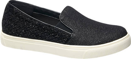 Graceland Slip-on met glitters en tweed