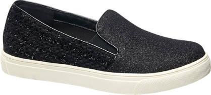 Graceland Slip-on met glitters en tweed