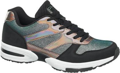 Graceland Sneaker met glitter en parelmoer
