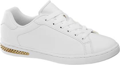 Graceland Witte sneaker gouden details