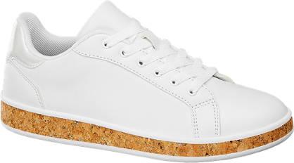 Graceland Witte sneaker kurkzool