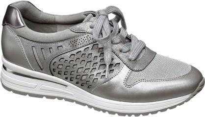 Graceland Zilveren sneaker metallic