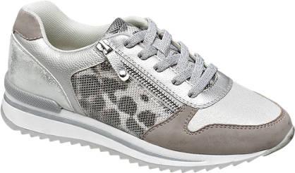 Graceland Zilveren sneaker panterprint