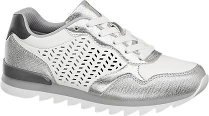 Graceland Zilveren sneaker perforatie