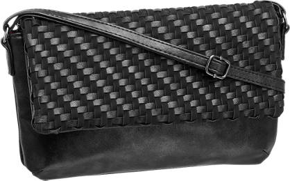 Graceland Zwarte clutch geweven