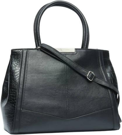 Graceland Zwarte handtas met croco print