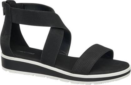 Graceland Zwarte sandaal elastieke band