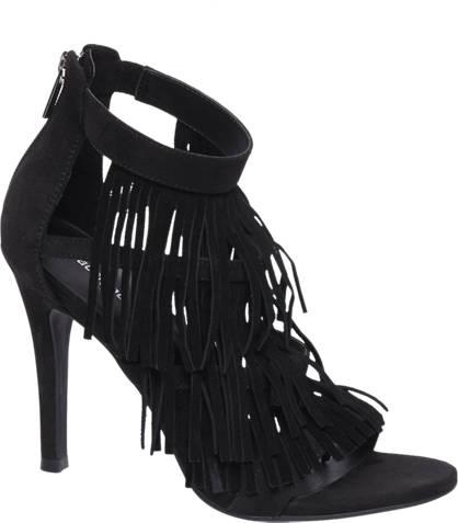 Graceland Zwarte sandalette franjes