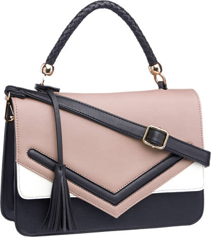 Graceland Zwarte schoudertas envelop klep