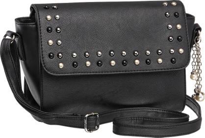 Graceland Zwarte schoudertas studs