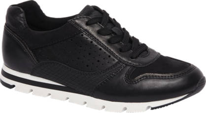 Graceland Zwarte sneaker perforatie