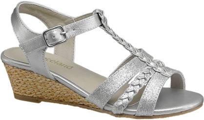 Graceland Metallic Glitter Wedge