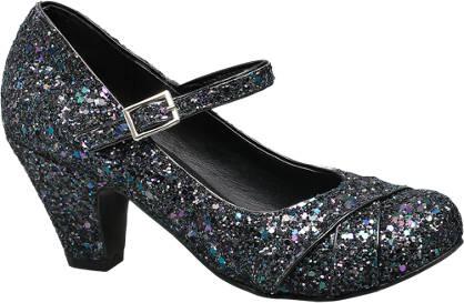Graceland Heeled Glitter Shoe (Sizes 4 & 5)