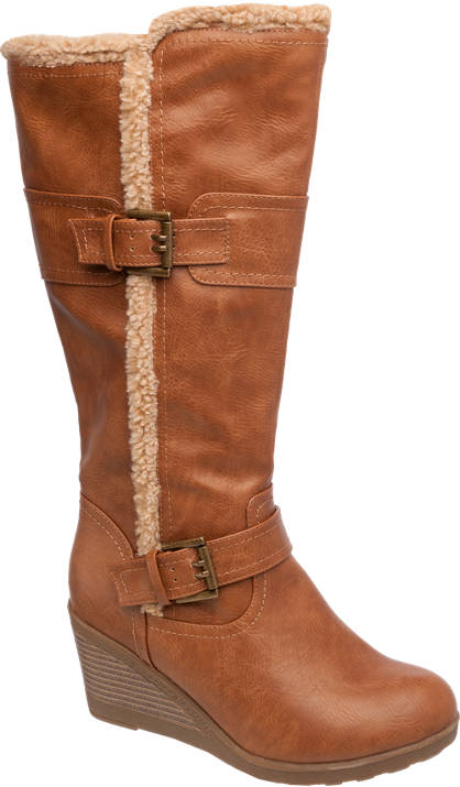 Ariane High Leg Wedge Boots