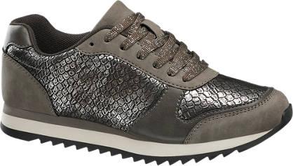 Graceland Hüllőmintás ezüst sneaker