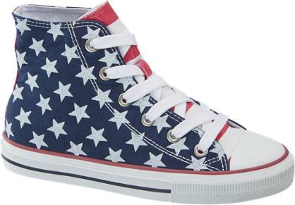 Graceland Leinen Mid Cut  Sneakers