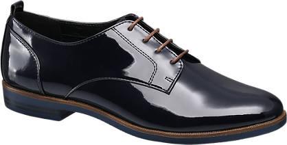 Graceland Kék lakk dandy bokacipő