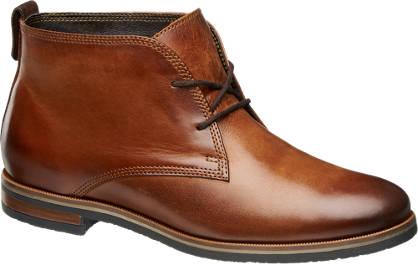 5th Avenue Konyak színű bőr bokacipő