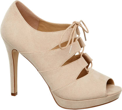 Catwalk Lace Up Peeptoe