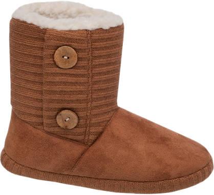 Button Side Boot Slipper