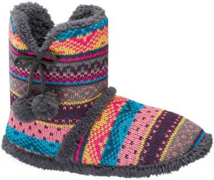 Casa mia Pattern Boot Slipper