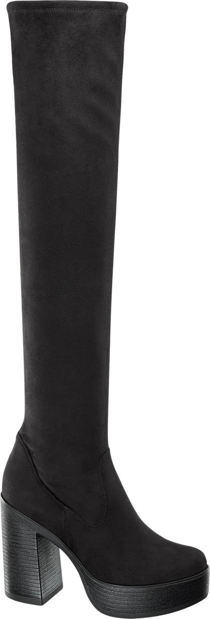Catwalk Stretch Over the Knee Boots