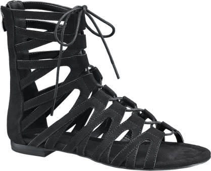 Graceland Ghillie Tie Ankle Sandals