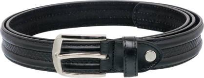 Snake Effect Leather Lined Belt