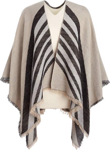 Stripe Front Poncho