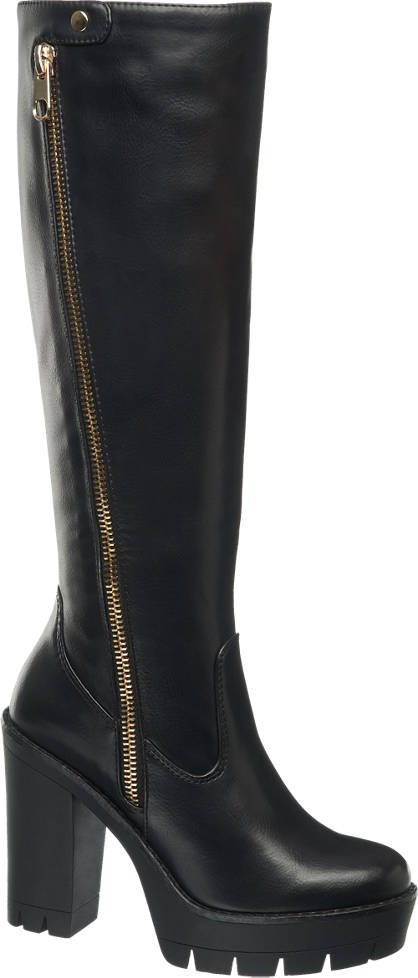 Catwalk Chunky High Leg Boots