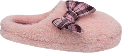 Ladies Bow Trim Slipper