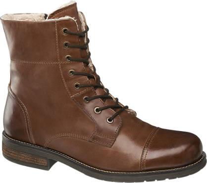AM SHOE Læderstøvle - Foret